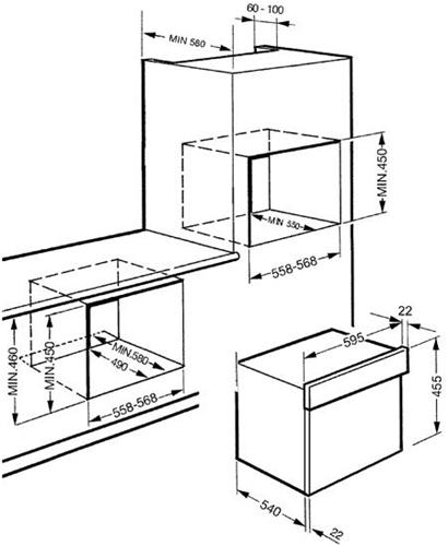 Smeg sc445mcx1 forno microonde combinato ebay - Micro onde smeg ...