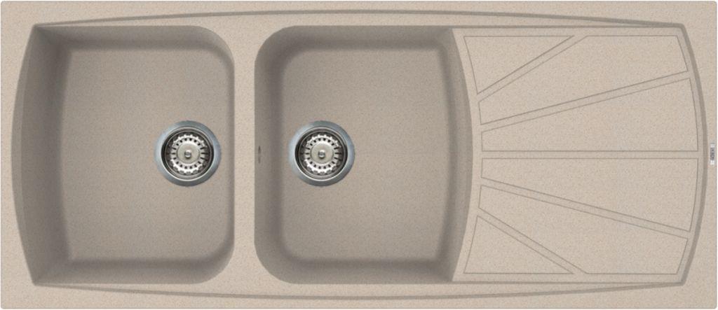 Elleci living 500 lavello 2 vasche con gocciolatoio colore for Leroy merlin lavelli