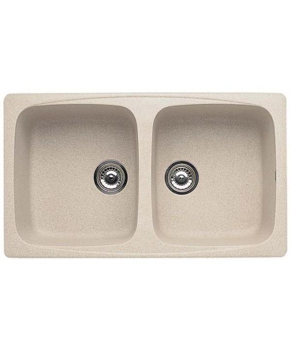 Elleci master 450 lavello 2 vasche colore avena granitek cod lgm45051 - Lavello cucina avena ...