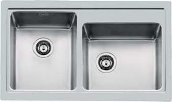 Foster 4385050 - lavello s4000  2 vasche  34x40  filotop