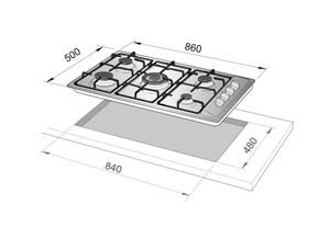 De longhi ytf59asdv piani cottura 90 cm terra di for Nei piani domestici di terra