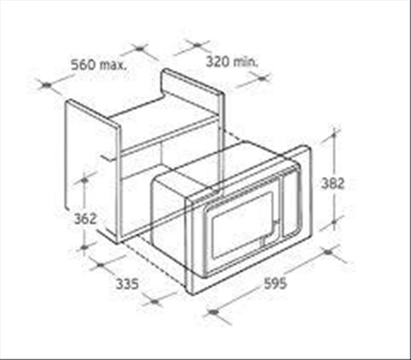 CANDY MIC 201 EX - Forno elettrico a microonde da incasso Pensile