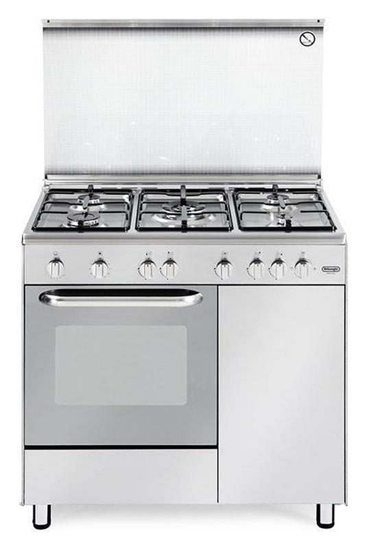 De Longhi Dgx96b5 Cucina Da Accosto Cm 90 5 Fuochi A Gas Inox